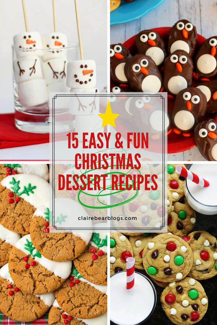 Are you looking for some easy and fun Christmas dessert recipes? I got you! Here are 15 of them :) christmas dessert recipe | houston food blogger clairebearblogs | christmas sweets | christmas dessert ideas | dessert to make this christmas