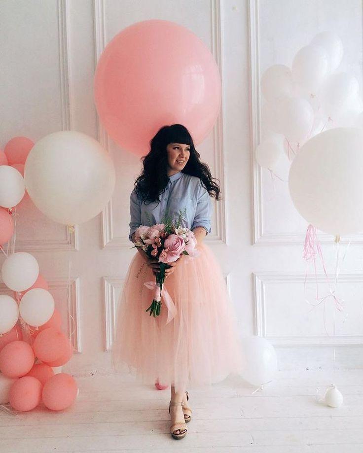 Фотосессия прекрасной Ирины с нашим нежным метровым шаром метровые шары, воздушные шары москва, воздушные шары, кутузовский