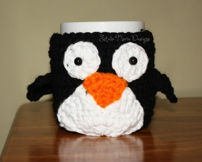 Mr. Penguin Mug Cozy...Free Crochet Pattern!