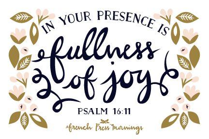 French Press Mornings Print - Psalm 16:11 #encouragingwednesdays #fcwednesdaywisdom #quotes