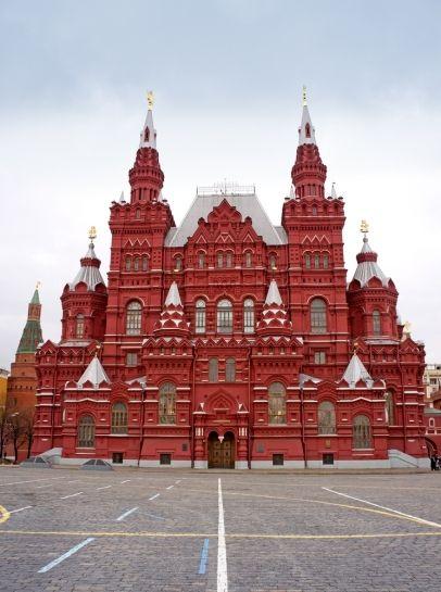 Museo Histórico Nacional en la Plaza Roja, Moscú, Rusia.