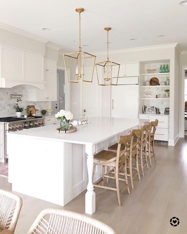 lifeoncedarlane white kitchen, kitchen island with ceasarstone ...