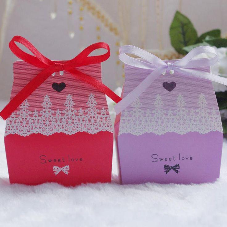 Pas Cher Vente En Gros Boîtes Faveur De Mariage Sacs Papier Cadeau Bonbonnières Motif