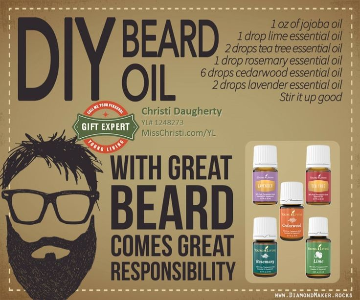 DIY Beard Oil with Essential Oils. Essential oils for Men.