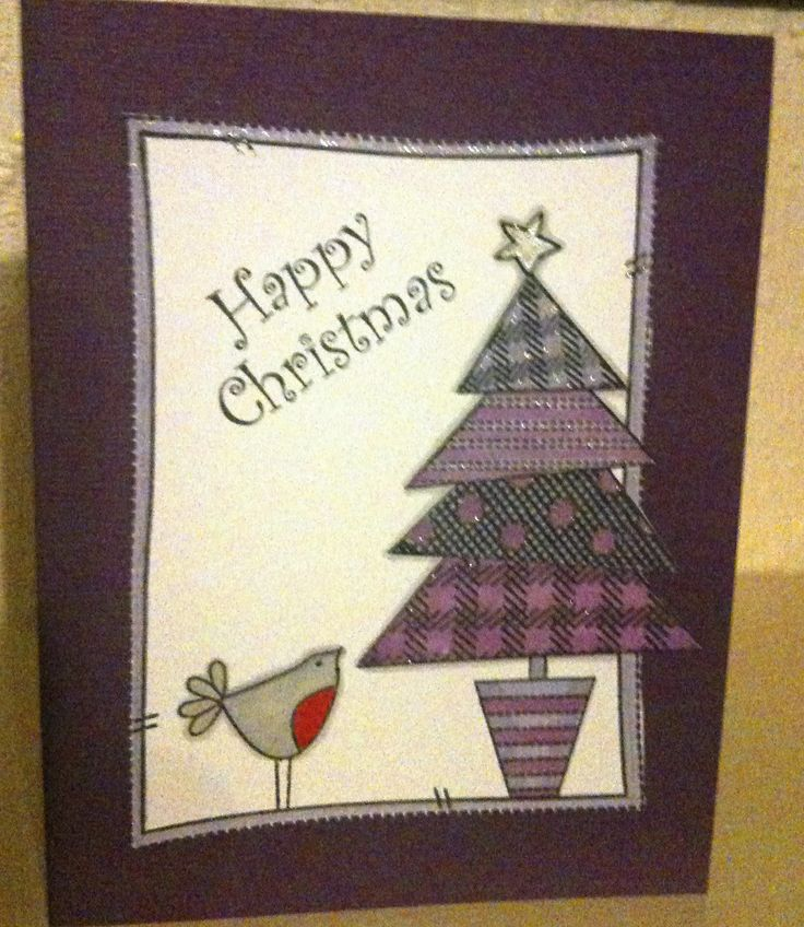 Christmas tree using Inky Doodles stamp