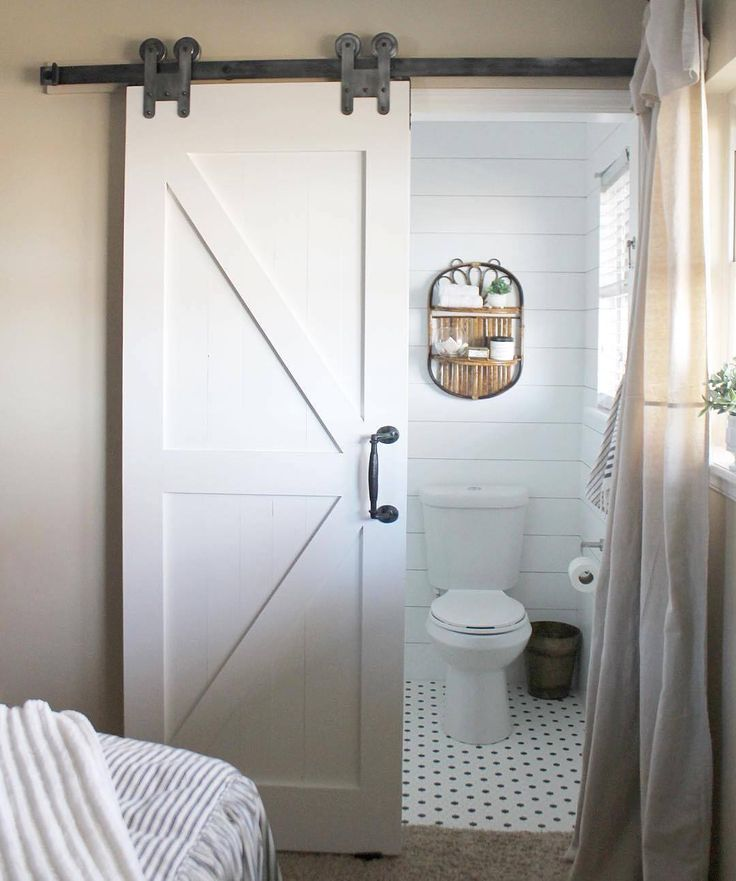 Just Remodeled Her Bathroom With The H Strap Hardware In Antique Pewter And  Itu0027s Maybe The Most Beautiful Bathroom Ever. ** The Barn Door