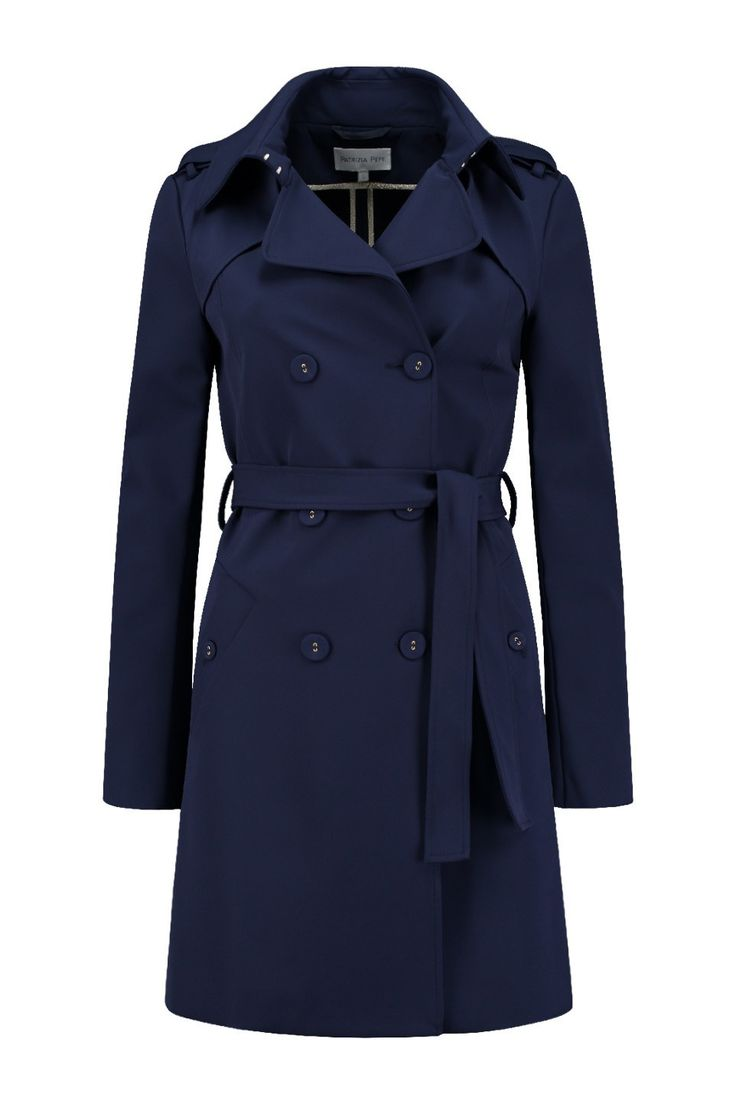 Patrizia Pepe Trenchcoat 8S0139 A2AW Lapis Blue - NIEUW Bloom Fashion