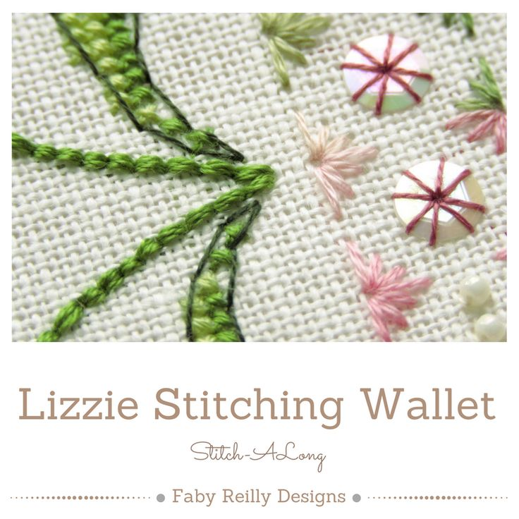 Lizzie Stitching Wallet SAL - Faby Reilly Designs
