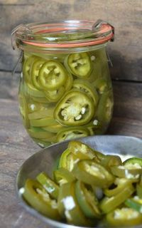 Pickled Jalapenos - If you like jalapenos, this recipe is a must! Quick and easy to make, you'll be enjoying these jalapenos in minutes. Delicious on nachos, sandwiches and soups.