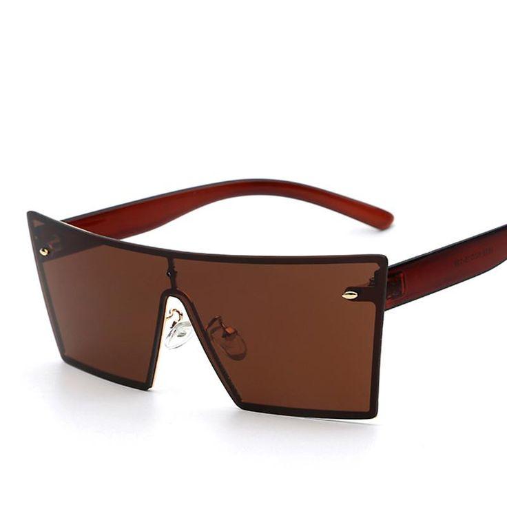 Brown on Brown Frameless Sunglasses
