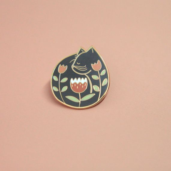 Cat Nap Pin Hard Enamel Enamel Pin Lapel Pin by justinegilbuena