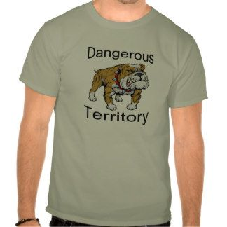Funny T-shirt - muscular bulldog shows off your confidence.