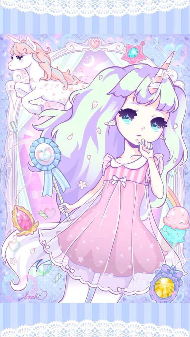 Pastel Unicorn Anime Girl! Unicorn Pinterest