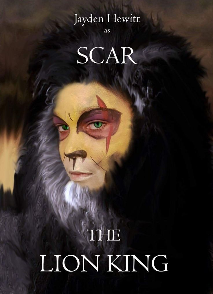 My 10 year old son Jaden Hewitt preparing to play Scar in the school production of The Lion King.