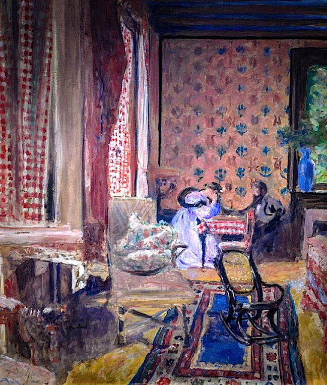"""At the Board Game"": Edouard Vuillard, 1902."