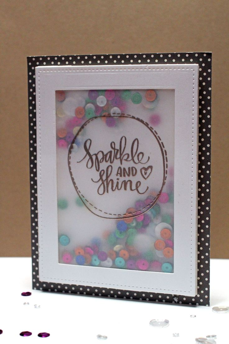 Sparkle and Shine Vellum Shaker Card