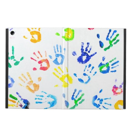 Rainbow Color Arms Prints Cover For iPad Air