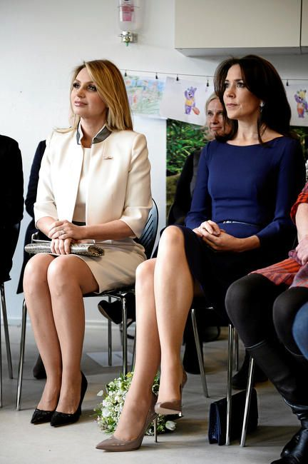 Crown Princess Mary and First lady Angelica Rivera Visit the kindergarten Ådalen