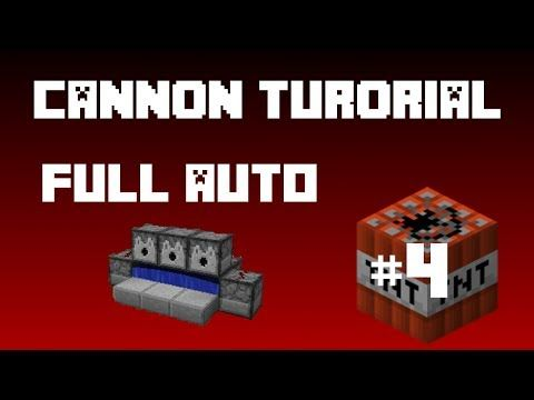 Minecraft - TNT Cannon (Tutorial) Full Auto Compact! - YouTube