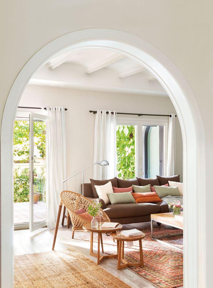 29 best cortinas y estores images on pinterest dining - Cortinas para salon ...