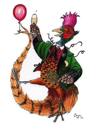 Party Pheasant Christmas Card by Bryn Parry by Bryn Parry, http://www.amazon.co.uk/dp/B00GKTEPPQ/ref=cm_sw_r_pi_dp_D1SFsb193R07E