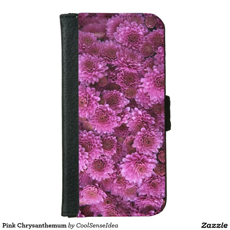 Pink Chrysanthemum Wallet Phone Case For iPhone 6/6s