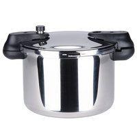 Matfer 013203 8.5 Qt. (8 Liter) Stainless Steel Pressure Cooker with Steamer Basket