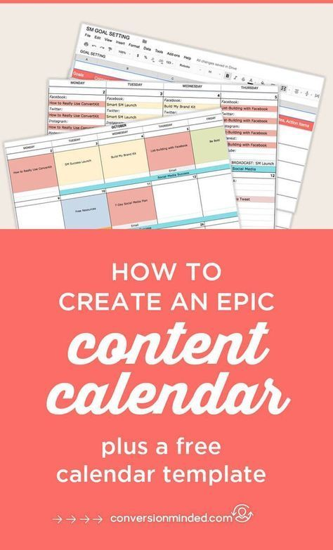 How to Create an Epic Content Calendar for 2018 (With Template