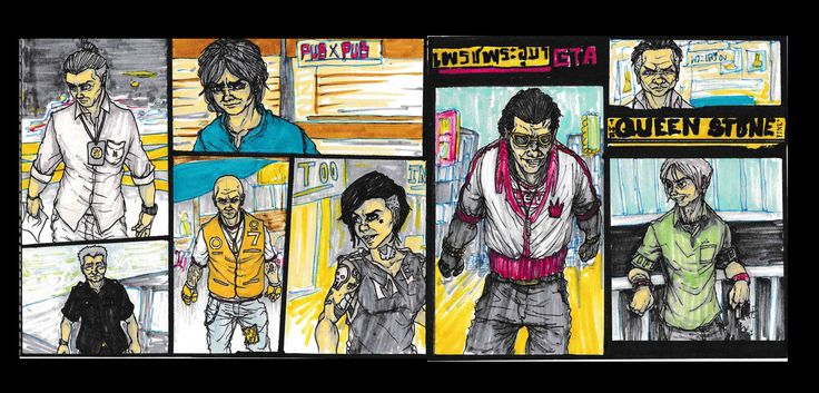 sketch Cover GTA Style