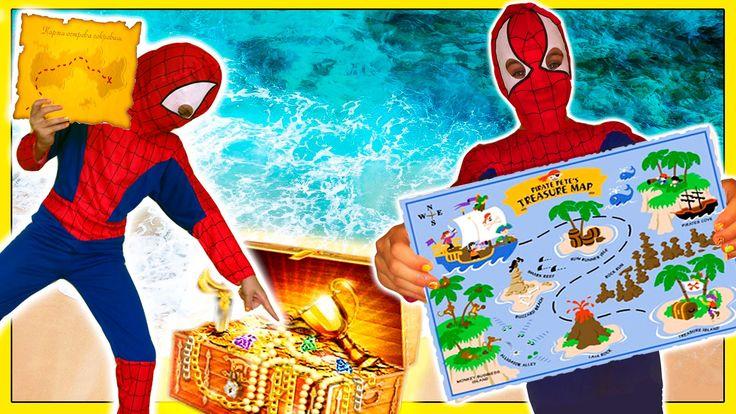 Человек Паук в реальной жизни - Сокровища Приключения - Смешной Пранк Су...