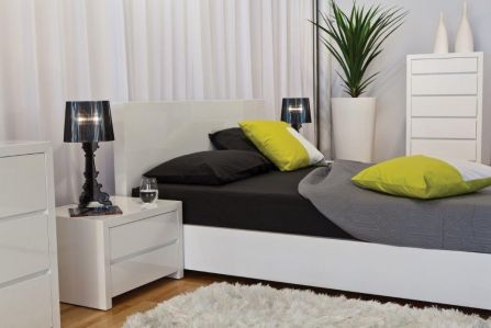 The Iset Queen Bed. Modern, clean lines.  As seen in the #Decorium #ModelSuite