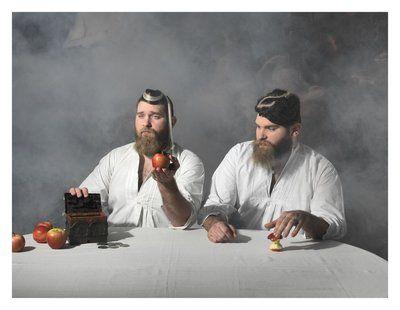 """Et af fotografierne fra Jim Lyngvilds udstilling. Jim Lyngvilds """"dødssønner"""""""