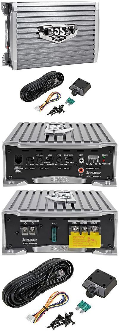 Car Amplifiers: Boss Armor Ar1500m 1500 Watt Mono Amplifier Compact Size Car Amp + Bass Remote BUY IT NOW ONLY: $58.9