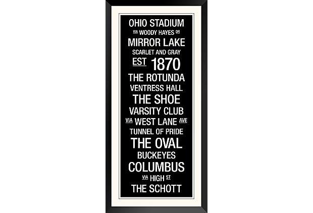 Ohio State: College Town Wall Art on OneKingsLane.com