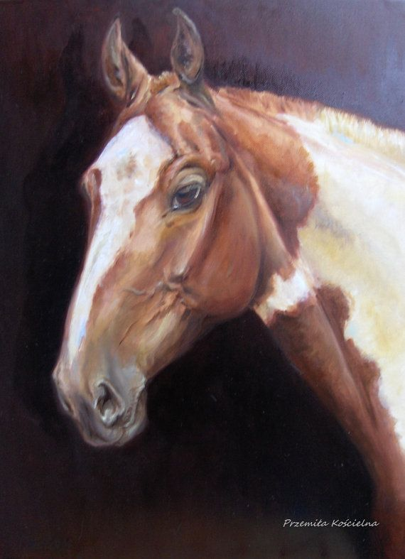HORSE PORTRAIT, Original Oil PAINTING, Animal painting, Portraits from photo, Hand painted,  Equestrian art on reqest