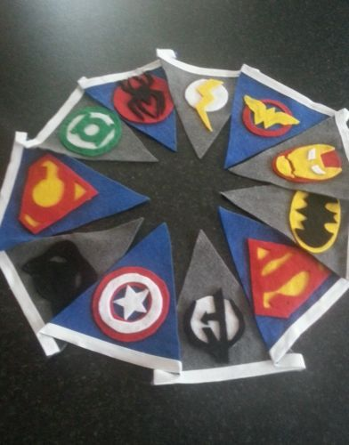 Personalised Superhero Comic DC Marvel Kids Party Bedroom Bunting Flag banner on Etsy, 18,74 €