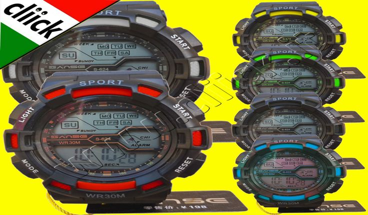 € 4,99 - SANSE Orologio Sport Quarzo Polso Cronografo digitale Impermeabile da per Uomo