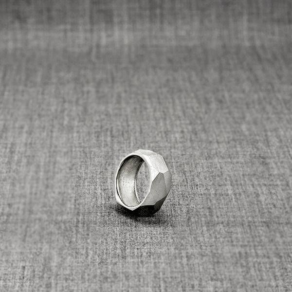 Nova Facet Ring - powerful statement ring, unique contemporary jewelry from Hungarian designer