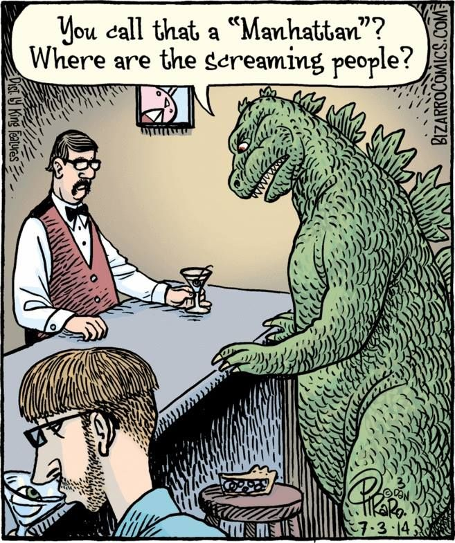 Not the Manhattan Godzilla thought he was ordering.