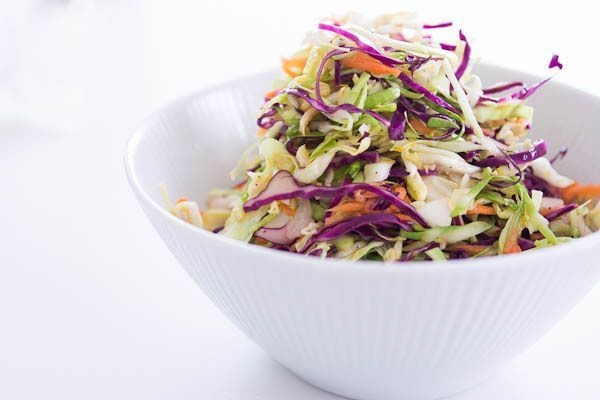 +++++ no-mayo coleslaw - crisp, cold, & zesty. made this night before, was fantastic, especially on top of pulled pork. balanced all flavors, added the chill, the crunch. zest entire lemon. will make again, even as stand alone salad.