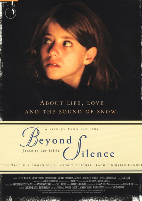 Beyond Silence (German: Jenseits der Stille) is a 1996 German film directed by Caroline Link. The film tells the story of Lara, who grows up as the daughter of deaf parents. Laura herself is hearing and is fluent in sign language. Even as a young child, she serves as an interpreter for her parents in many situations. For example, she interprets at a credit negotiation at the bank, although not always completely truthfully.