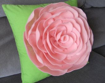Decorative Pillow Felt Flower Pillow Pattern by SewYouCanToo