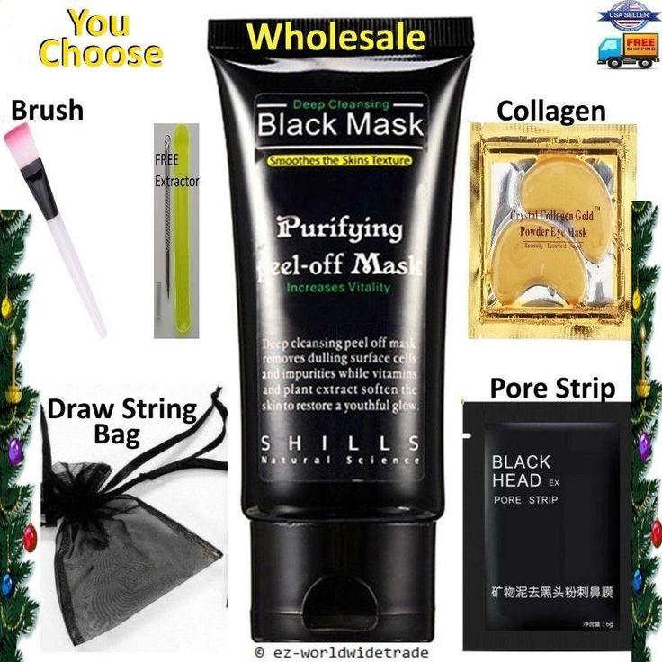 Shills Deep Cleansing Black Mask Peel off facial acne mud Blackhead Removal Kit #Shills