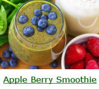 Apple Berry Green Smoothie