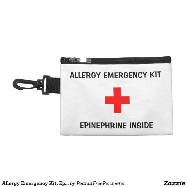 Allergy Emergency Kit, Epi Inside Pouch Accessories Bags