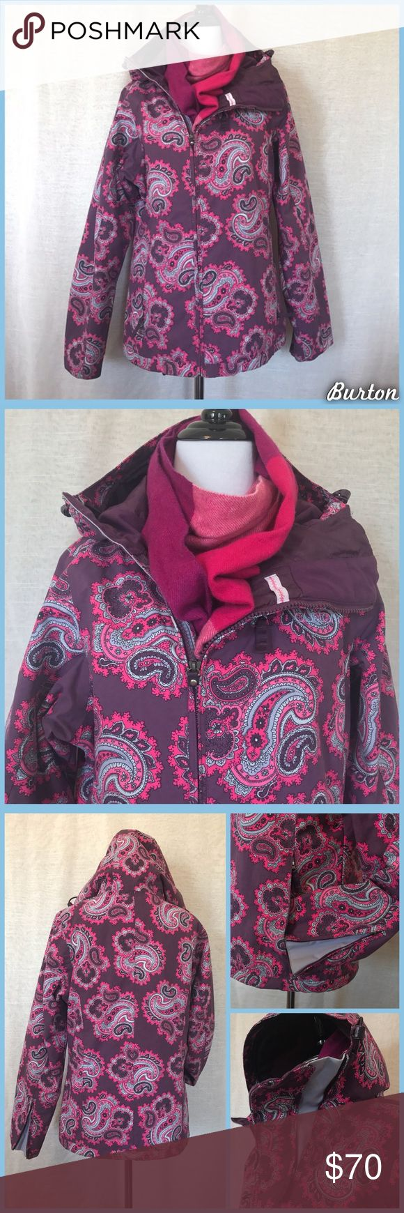 Burton Ski Jacket Burton Ski Jacket, size small in great pre-loved condition. Pink and purple paisley print. •I'm open to offers and negotiations on all items!• Burton Jackets & Coats
