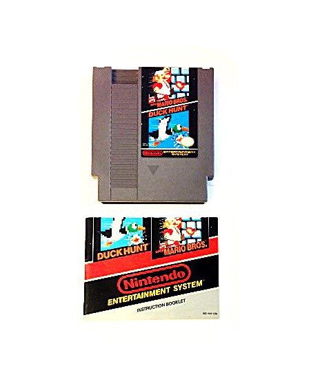 Super Mario Bros. / Duck Hunt Video Game with Manual for