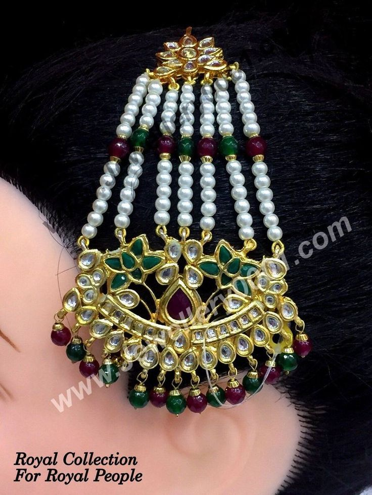 Shop for Kundan Red Green Jhumar for Women with free shipping online just @Rs 950/-. Click here