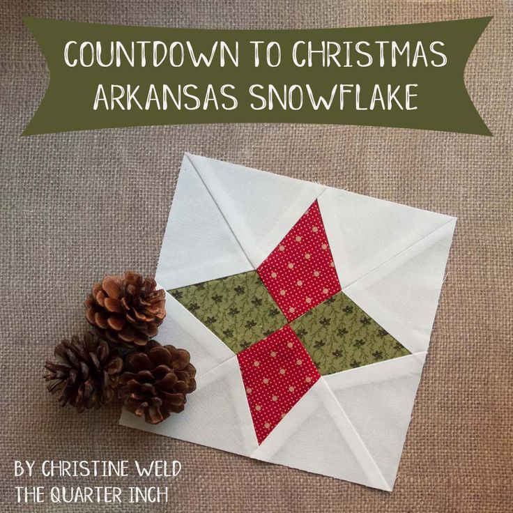 Does it ever snow in Arkansas? There has to be a story about how this block got its name—I would love to hear it! This block is also called Periwinkle, another good name for a holiday block. Construct