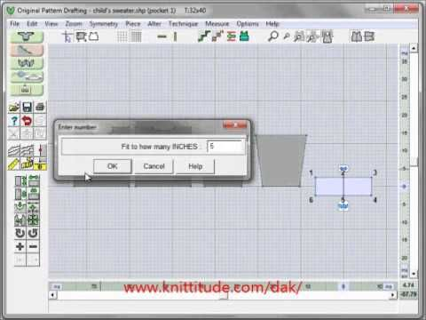 DesignaKnit 8 Original Pattern Tutorial - Original Pattern Drafting Basics